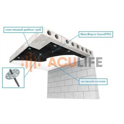 Звукоизоляция под натяжной потолок   Максфорте SoundPro